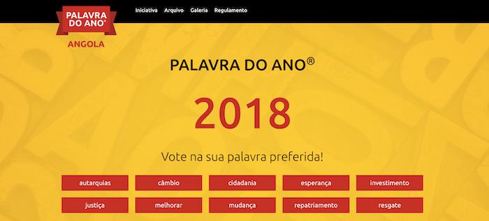 """Angolanos escolhem """"A Palavra do Ano"""" numa lista de dez que inclui """"esperança"""""""