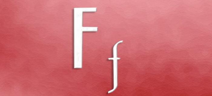 A Letra F