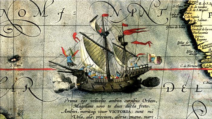 A nau Vitória completa a primeira volta ao mundo