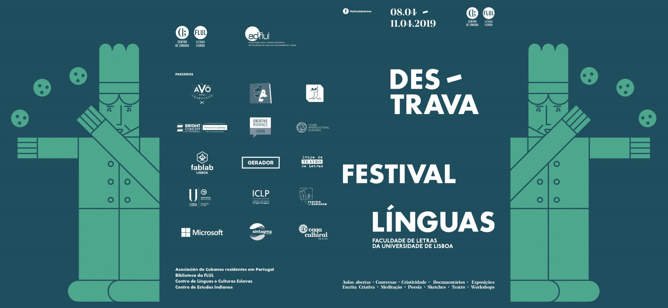 Sessão de inauguração da 3ª edição do Destrava-Festival das Línguas | 8 de Abril, 18h