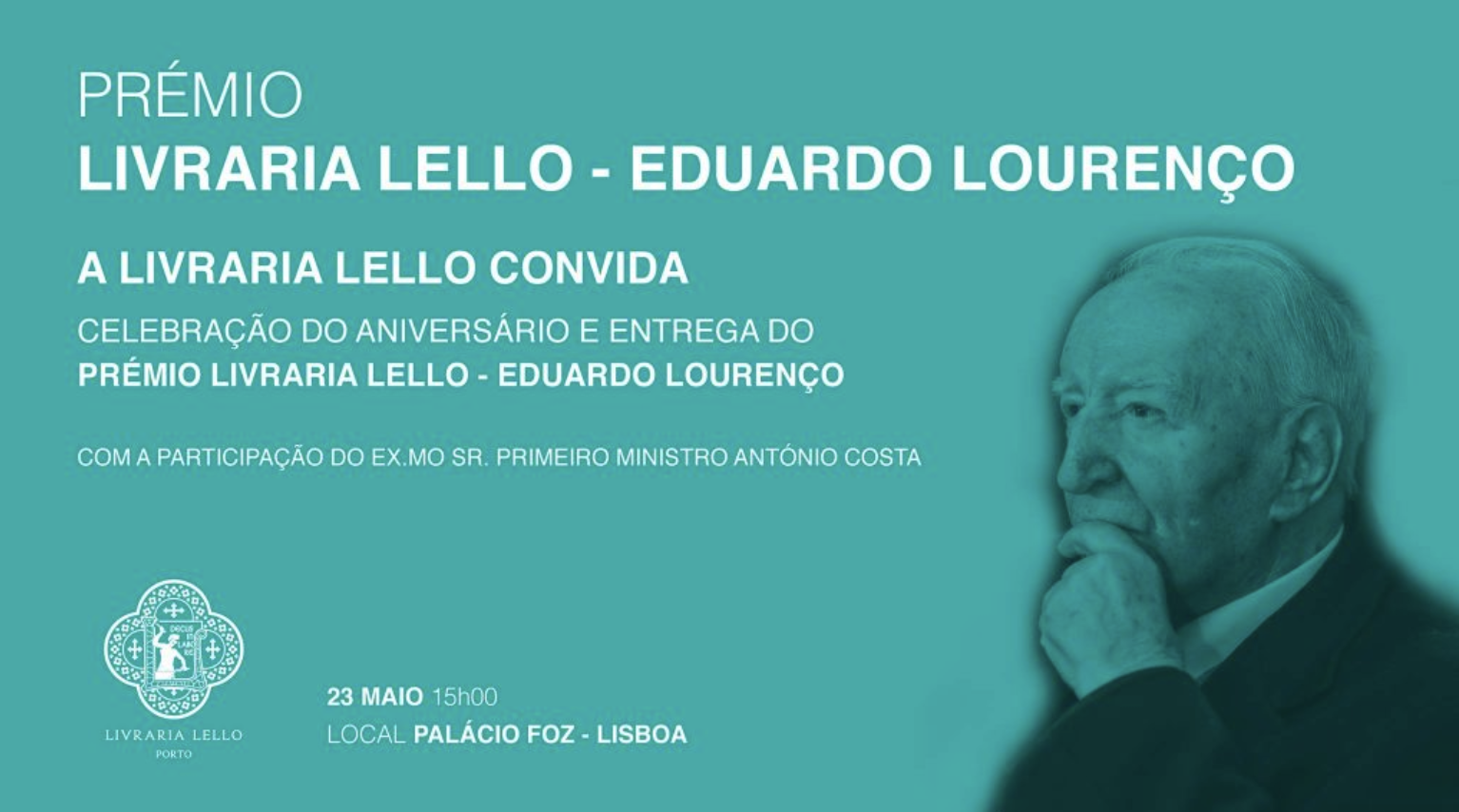 Entrega do prémio Livraria Lello a Eduardo Lourenço