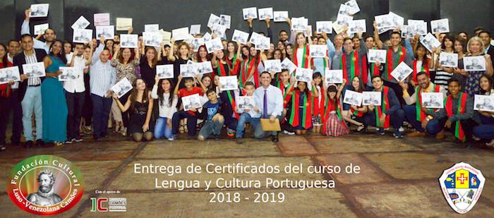 Entrega de Certificados de Língua e Cultura Portuguesa, na Venezuela