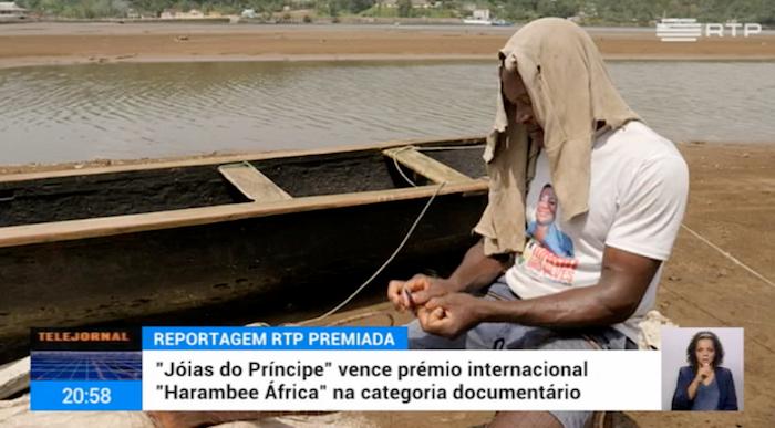 """Prémio """"Comunicar África: """"o documentário da RTP, """"Jóias do Príncipe""""."""