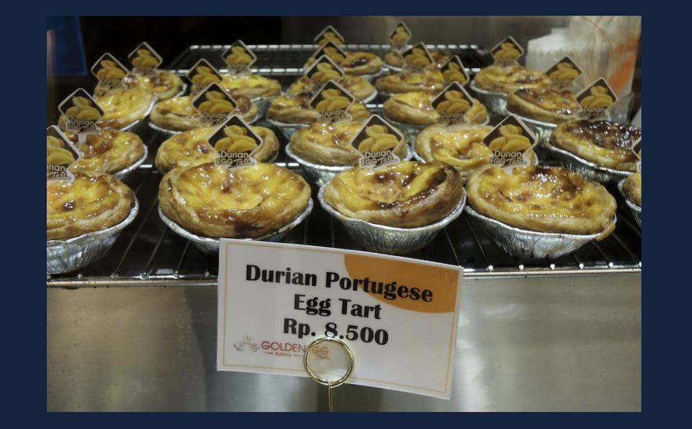 Foto: Pastéis de nata numa pastelaria de Jacarta, Indonésia, 22 de março de 2014. ANDREIA NOGUEIRA/LUSA