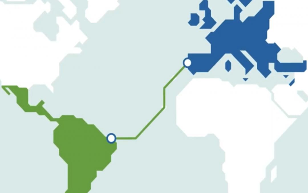 Cabo ótico submarino 'EllaLink', liga a Europa à América do Sul, através de Portugal e Brasil,