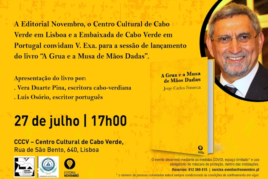"""Lançamento do livro """" A Grua e a Musa de Mãos dadas"""", Jorge CarlosFonseca"""