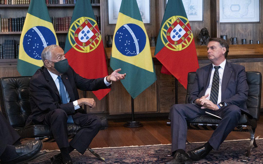 Marcelo e Bolsonaro em encontro sem espaço para debater divergências ou viagem a Portugal