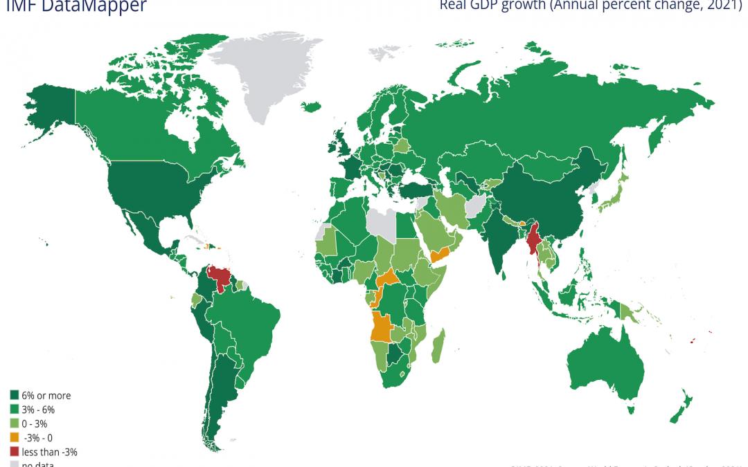 Crescimento económico: estimativas do Fundo Monetário Internacional (FMI)